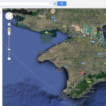 Крым на Google картах