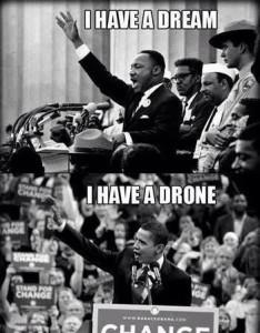 Мартин Лютер Кинг и Обама
