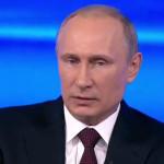 Путин во время Прямой линии от 17 апреля 2014 года