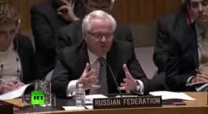 Виталий Чуркин на совбезе ООН